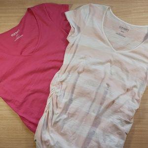 Old Navy Maternity long t-shirt bundle. Medium